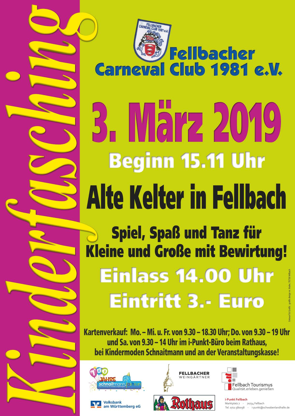 Plakat FCC Kinderfasching 2019